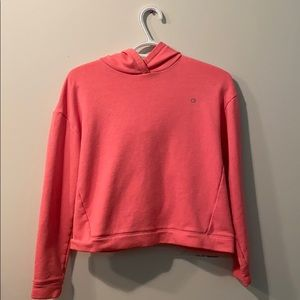 Sweat shirt with with open back